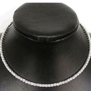 Brilliant CZ Crystal Tennis Choker Necklace